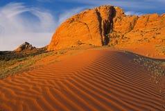 Areias vermelhas do deserto Fotografia de Stock Royalty Free