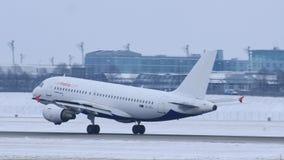 Areje a aterrissagem plana de Malta no aeroporto MUC de Munich filme