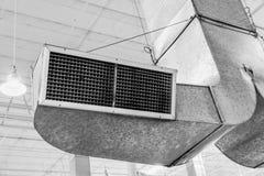 Areje a linha sistema da tubulação da circunstância para o fluxo de ar industrial fotos de stock