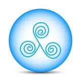 Areje na esfera mágica isolada no fundo branco Ilustração para seu projeto, jogo do vetor, cartão ilustração stock