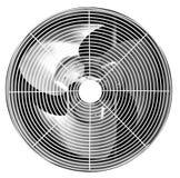 Areje o compressor da circunstância isolado no fundo branco com clipp foto de stock