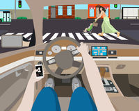 Areless bestuurder Ð ¡ Royalty-vrije Stock Afbeeldingen