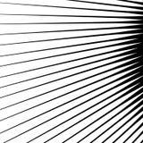 Aren die van een centraal punt uitspreiden Geometrische illustratie S stock illustratie