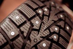 Aren op banden voor auto's en een speciaal soort loopvlak stock afbeelding