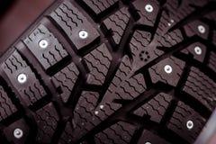 Aren op banden voor auto's en een speciaal soort loopvlak stock foto