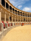 Arena. Yellow bull fighting arena in Ronda, Andalucia, Spain Royalty Free Stock Image