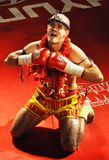 Arena 18, Jakub Gazdik, 2009. CLUB GARAGE OSTRAVA-MARTINOV, CZECH REPUBLIC - DEC 29: One of the best Czech thaiboxer Jakub Gazdik before fight in Arena 18 on Stock Image