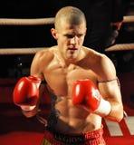 Arena 18, Jakub Gazdik, 2009. CLUB GARAGE OSTRAVA-MARTINOV, CZECH REPUBLIC - DEC 29: One of the best Czech thaiboxer Jakub Gazdik after fight in Arena 18 on Royalty Free Stock Images