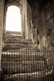 The arena in ancient Coliseum in Rome, Italy at sunny day Royalty Free Stock Image