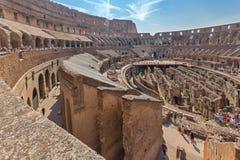 Arena antica del gladiatore Colosseum in città di Roma, Italia fotografie stock libere da diritti
