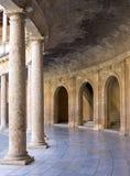 Arena antiga no palácio de Alhambra em Spain foto de stock