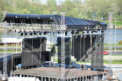 Arena for artists. Arena  to play  outdoors  for teams Stock Image