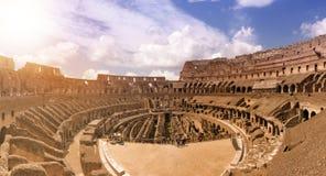 Arena av forntida Colosseum i Rome Royaltyfri Fotografi