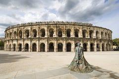 Arena av Nîmes Arkivfoto