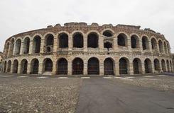 Arena av verona, forntida roman amfiteater italy Fotografering för Bildbyråer