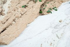 Arena blanca y arcilla beige Fotografía de archivo