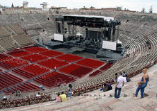 The Arena colosseum in Verona, Italy Royalty Free Stock Images