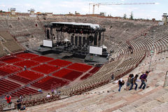 The Arena colosseum in Verona, Italy Royalty Free Stock Image