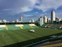 Arena Conda stadium Chapecoese Club stadium. Chapecó-Brazil, - Aerial view of Arena Conda stadium, Chapecoese Club stadium royalty free stock image