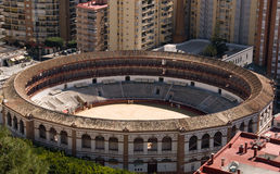 The arena for corrida in Spain. The arena for corrida in Marabella, Spain royalty free stock photography
