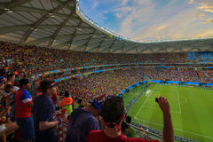 Arena da Amazônia is filled to capacity for the US vs Portugal Match Royalty Free Stock Image