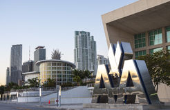 Arena de American Airlines en Miami Imágenes de archivo libres de regalías