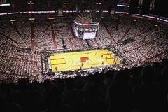 Arena de American airlines, hogar de los Miami Heat imagenes de archivo