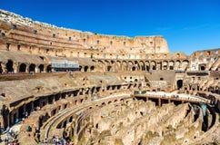 Arena de Colosseum ou de Flavian Amphitheatre em Roma fotografia de stock royalty free