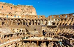 Arena de Colosseum ou de Flavian Amphitheatre em Roma foto de stock