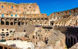 Arena de Colosseum ou de Flavian Amphitheatre em Roma fotos de stock royalty free