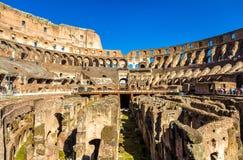 Arena de Colosseum ou de Flavian Amphitheatre em Roma imagem de stock