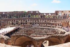 A arena de Colosseum, Roma Imagens de Stock