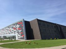 Arena de deporte moderna en Koszalin Polonia Fotografía de archivo libre de regalías
