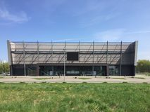 Arena de esporte moderna no Polônia de Koszalin Fotografia de Stock