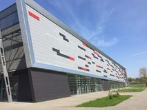 Arena de esporte moderna no Polônia de Koszalin Fotos de Stock Royalty Free