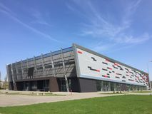 Arena de esporte moderna no Polônia de Koszalin Imagens de Stock Royalty Free