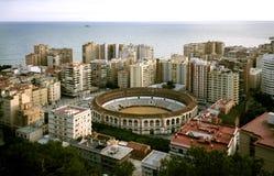 Arena de la corrida en Málaga Fotos de archivo libres de regalías