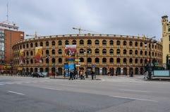 Arena de la corrida en Valencia, España Fotografía de archivo