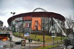A arena de Lanxess na água de Colônia imagens de stock royalty free