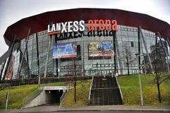A arena de Lanxess na água de Colônia, Alemanha imagens de stock