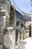 Arena de Nimes Francia Imágenes de archivo libres de regalías