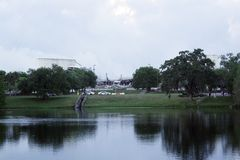 Arena de Orlando Amway, Poste-implosión Fotos de archivo libres de regalías