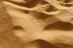 Arena de oro del desierto de Sáhara Fotografía de archivo
