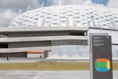 Arena de Pernambuco en Recife en el Brasil imagenes de archivo