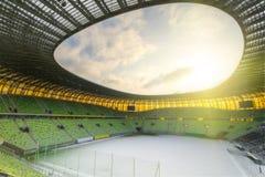 Arena de PGE en Gdansk, estadio para la taza euro 2012 Imagenes de archivo