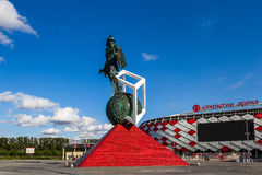 Arena de Spartak Opening del estadio de fútbol Imagen de archivo