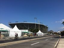 Arena de Vollleyball da praia - Olympics e Paralympics 2016 Imagem de Stock Royalty Free