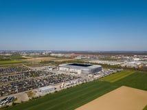 Arena de WWK - el estadio de f?tbol oficial del FC Augsburg foto de archivo