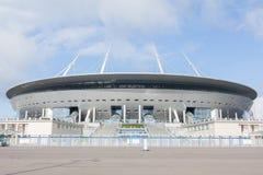 arena de Zenit del estadio, lo más costoso posible en el mundo, el mundial de la FIFA en 2018 St Petersburg, Rusia imagenes de archivo