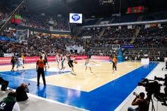 Arena del baloncesto Imágenes de archivo libres de regalías